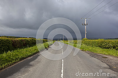 Stormy Highway Stock Photo - Image: 40627936