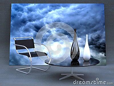 Stormy modern interior