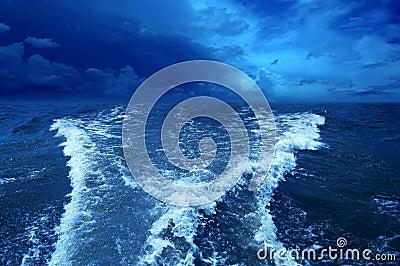 Stormy ocean.