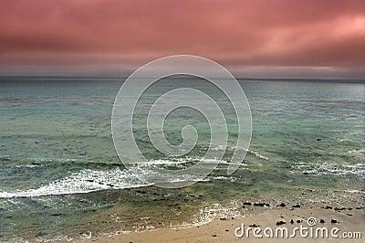 Stormy ocean panorama
