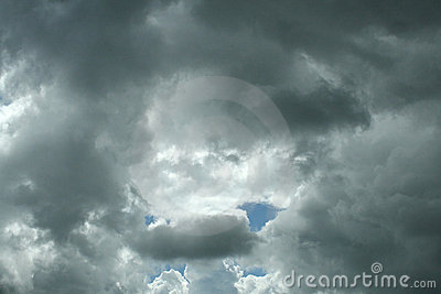 Stormy rain clouds