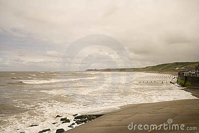 Stormy Sea At Sandsend Royalty Free Stock Photos - Image: 7977768