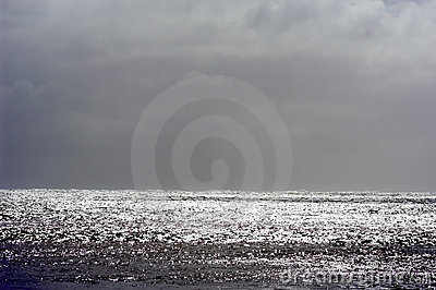 Stormy seascape, horizontal