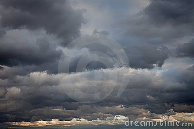 Stormy sky background