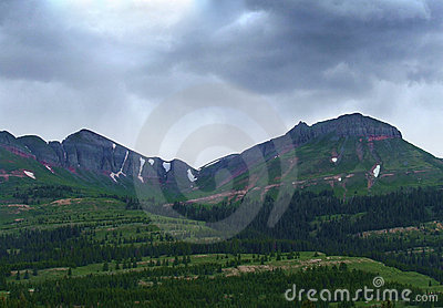 Stormy Sky Over Mountain Pass