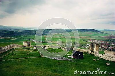 Stormy sky over Spiss Castle, Slovakia