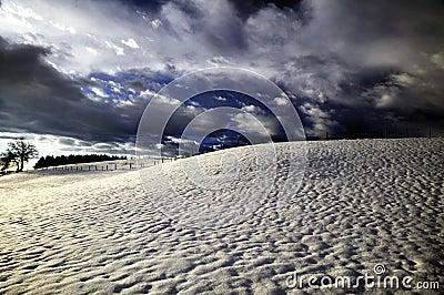Stormy winter landscape