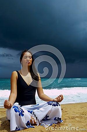 Stormy yoga