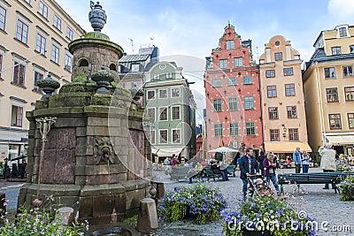 Stortorgete Square, Stockholm Editorial Image