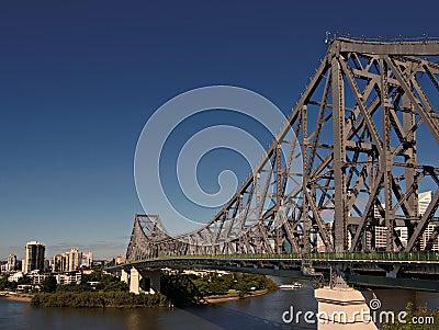 Story bridge spans across the Brisbane river