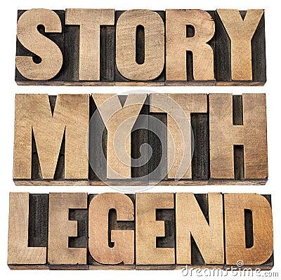 Story, myth, legend
