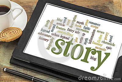 Story and storytelling word clouds