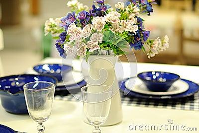 Stołu set dla wydarzenia wesela lub przyjęcia