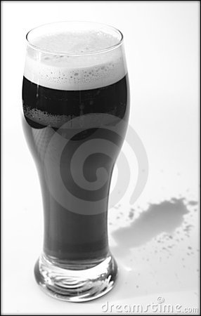 Stout beer and spillage