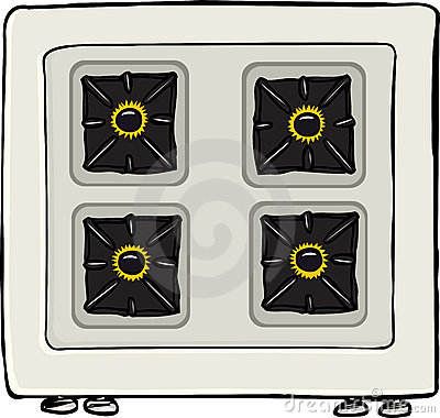 Stove With Flames