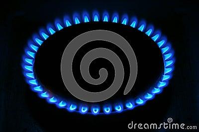 Stove flames