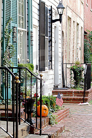 Straße In Alexandria, Virginia Stockbild - Bild: 17684671