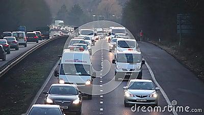 Straße Autobahn-Autobahnlandstraße stock video