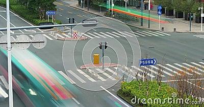 Straßenabschluß herauf Zeitspanne China, Shenzhen stock footage