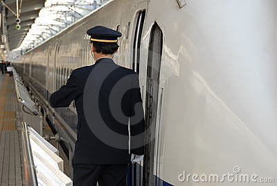 Strażnik peron pociąg