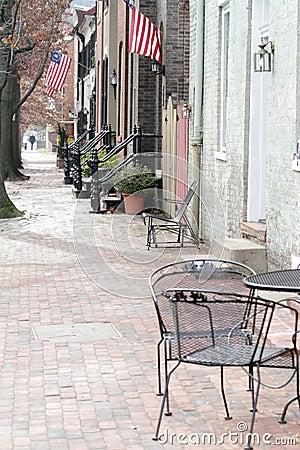 Straat in Alexandrië, Virginia