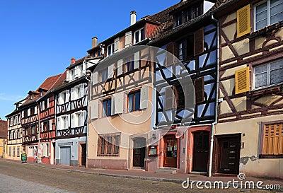 Straat in Colmar Redactionele Stock Foto