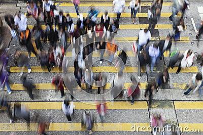 Straat die in Hongkong kruist