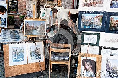 Straatkunstenaar Redactionele Stock Foto