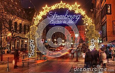 Straßburg-Weihnachtskapital Redaktionelles Stockbild