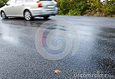 Strada bagnata
