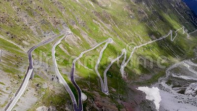 Strade della curva in alpi archivi video