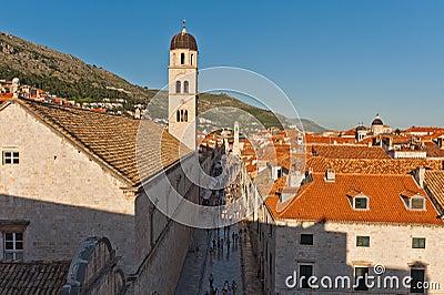 Stradun in Unesco Heritage Dubrovnik