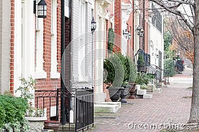 Straße in Alexandria, Virginia