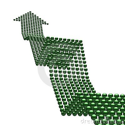 Straße zum Erfolg (Grün herauf arrrow)