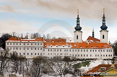 The Strahov Monastery in winter, Prague