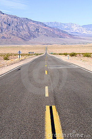Straight Death Valley Road