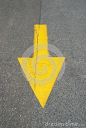 Straight down arrow
