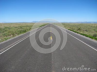 Straight empty road