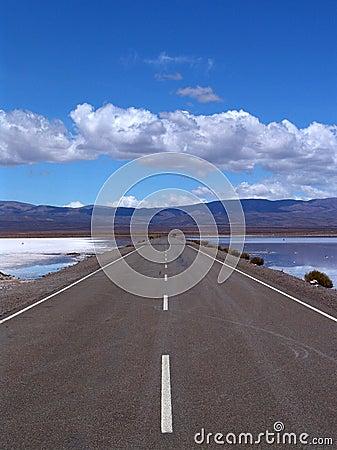 Straight, flat empty road
