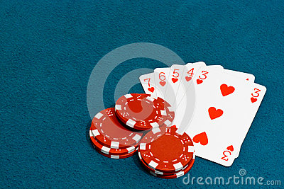 Straight flush poker
