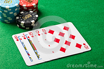 Straight flush in a poker game