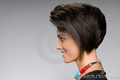 Straight hairstyle