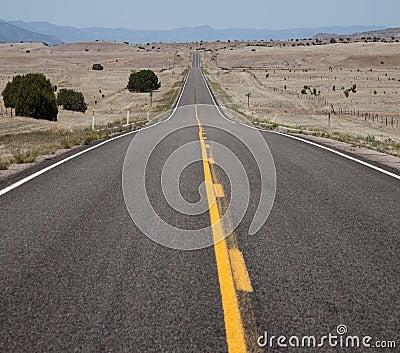 Straight, Long, Empty Road