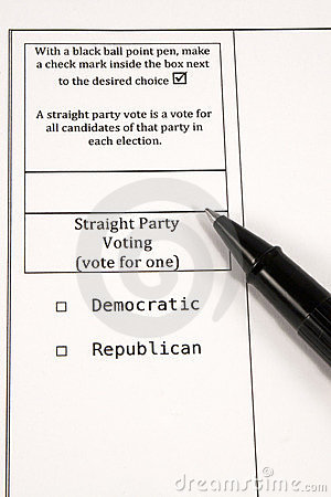 Straight Party Voting Editorial Stock Image