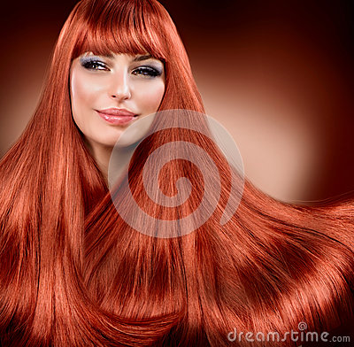Free Straight Read Hair Royalty Free Stock Photography - 27256007