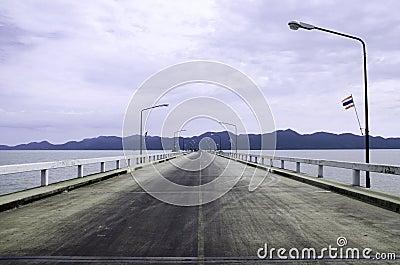 Straight Road Along the Sea