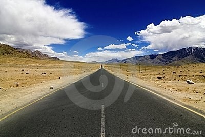 Straight Road In Leh Ladakh