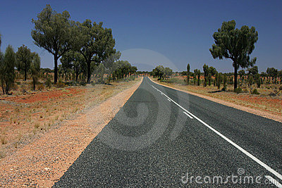Straight road of outback