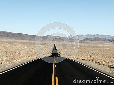Straight road to adventure