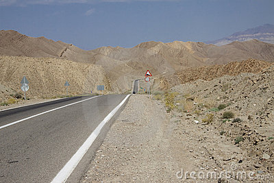Straight route in Iran